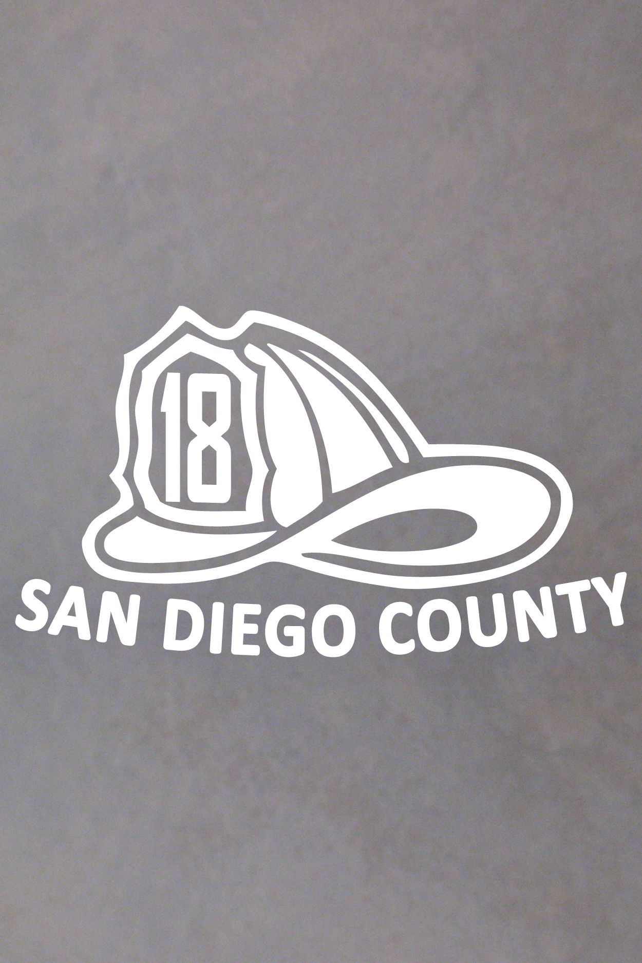 Custom Fire Department Name and Number Helmet Decal