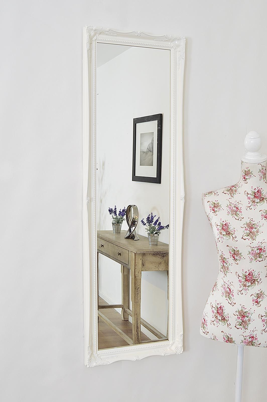 Long Wall Mirror White WallDecorPrints (With images