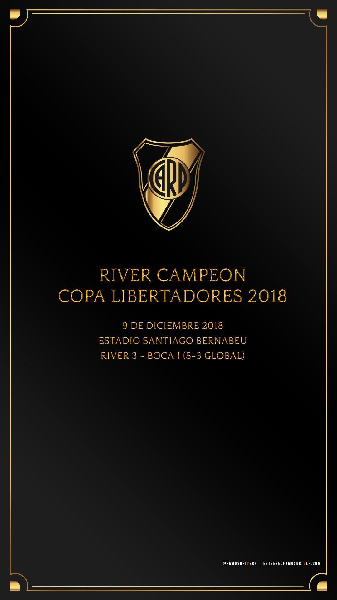 Fondo de Pantalla River Plate para Celular – River Campeón Copa Libertadores 2018