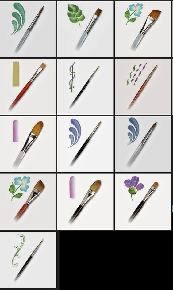 Brushes and applications easycanvaspainting