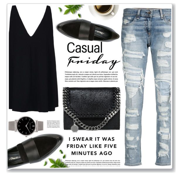 casual friday by nanawidia on Polyvore featuring moda, STELLA McCARTNEY, rag & bone/JEAN, 3.1 Phillip Lim and Larsson & Jennings