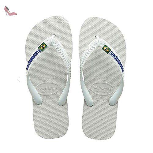 Havaianas Homme Brasil Logo Tongs Blanc