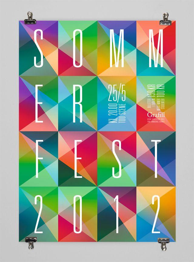 grafill sommerfest plakat by silvio ketterer design. Black Bedroom Furniture Sets. Home Design Ideas