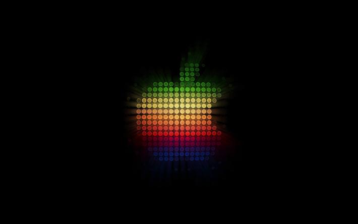 Scarica Sfondi Mela Sfondo Nero Logo Creative Apple Sfondi