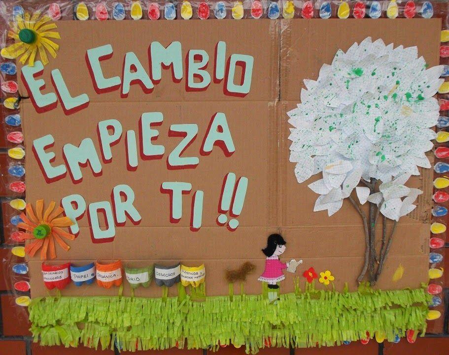 Entre p ginas construimos una cultura de paz cuidemos for Carteleras escolares de reciclaje