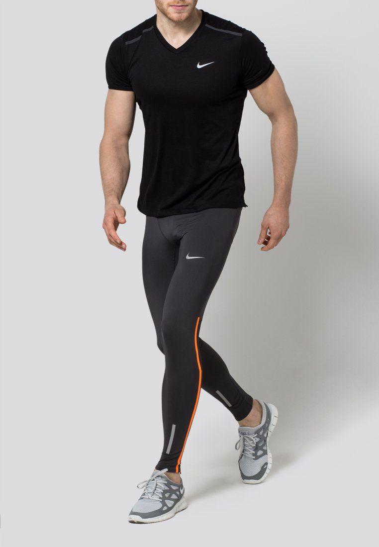 f663f405e91e4 Nike Performance - TECH - Tights - anthracite/total orange/reflective silver