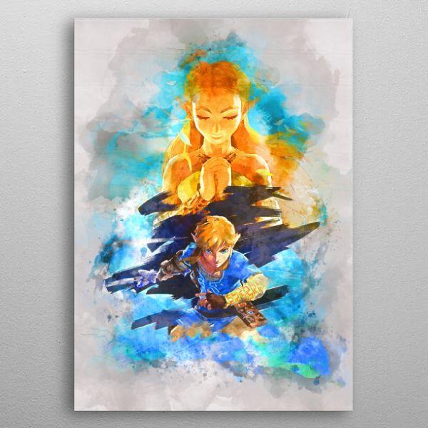 Link / Legend of Zelda Gaming Poster Print | metal posters - Displate | Displate thumbnail