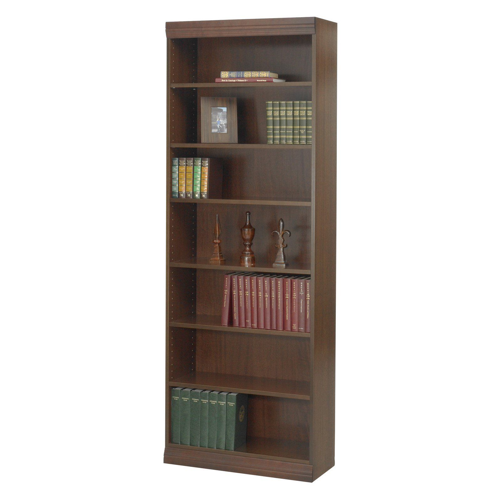 Safco 7-Shelf Veneer Baby Bookcase - 30W in. - The Safco 7-Shelf Veneer Baby Bookcase- 30W in. is a durable accompanying piece to your home office or work area. Available in multiple finish color o...