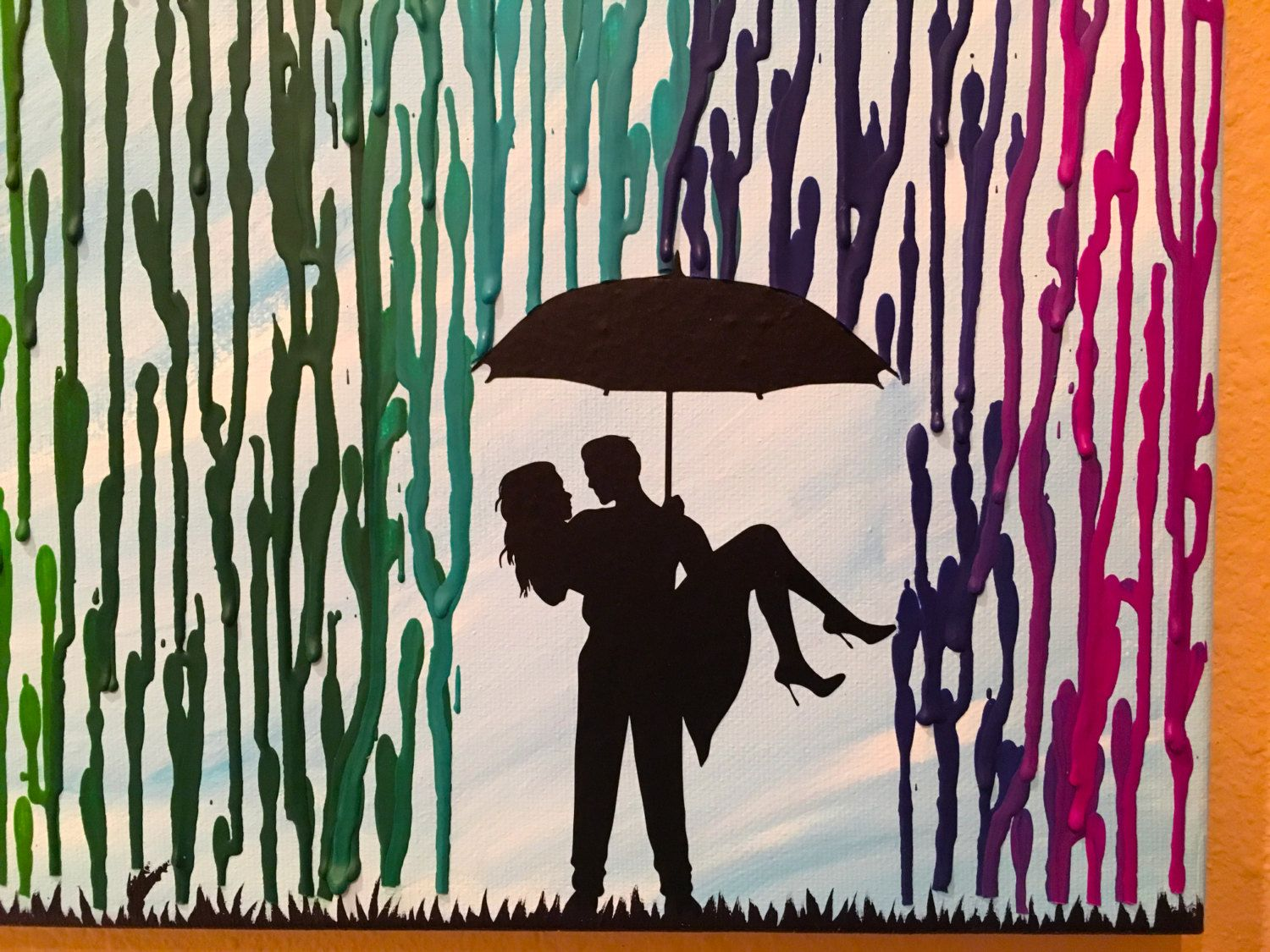 Cool Wedding Gifts For Young Couples: Melted Crayon Art, Rainbow Painting, Unique Wedding Gift