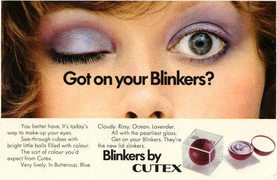 Cutex Blinkers Eyeshadow Ad Vintage Makeup Ads Vintage