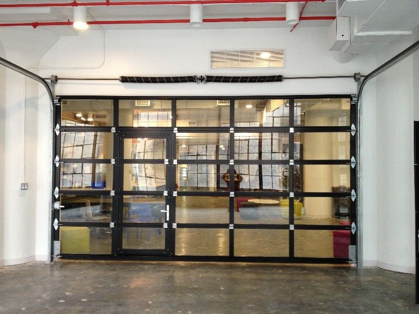 Glass Garage Door For Popular Aluminum Clear Glass Garage