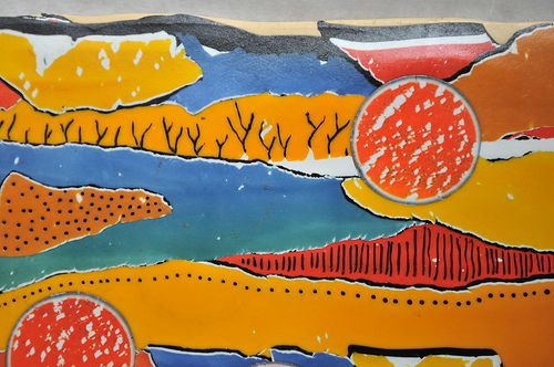 Desert Watercolor clay panel-close up 2 | A close up of the … | Flickr