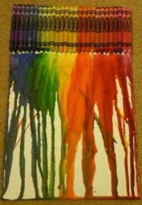 Crayon Melting Artwork