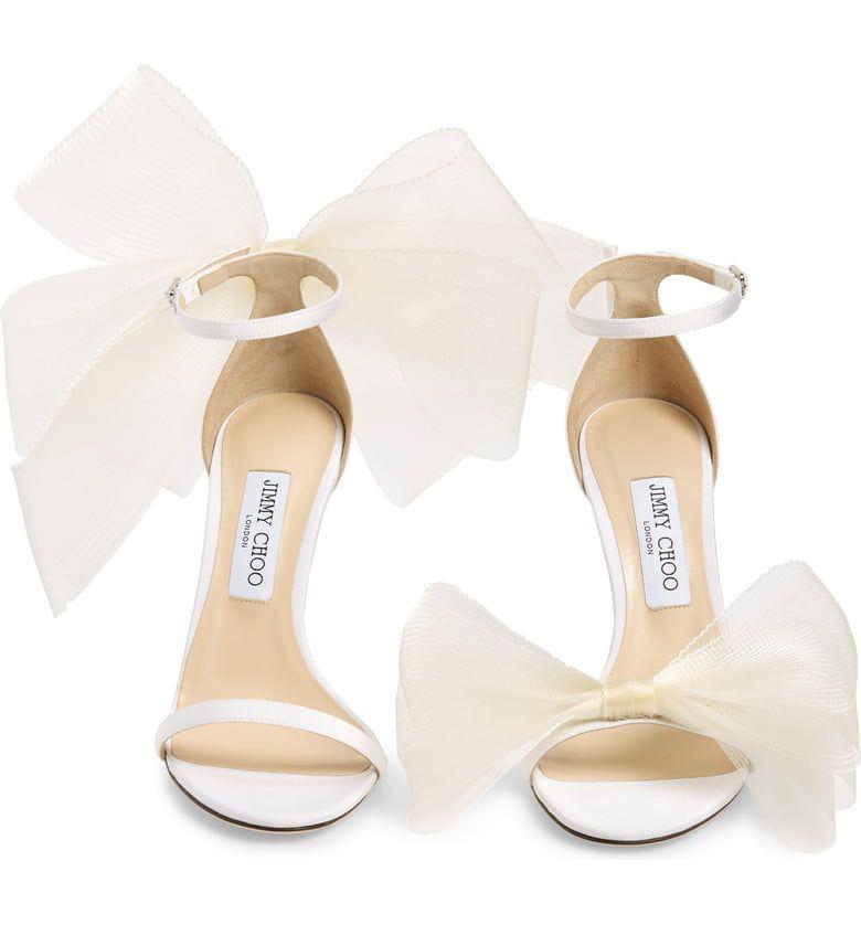 Jimmy Choo Aveline Bow Ankle Strap Sandal Women Nordstrom Jimmy Choo Heels Strap Sandals Women Ankle Strap Sandals