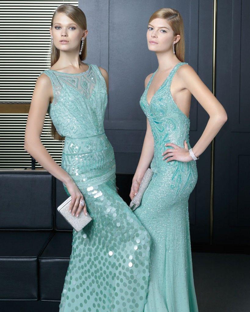 Vestidos-de-fiesta-en-color-verde-claro-con-detalles-de-lentejuelas ...