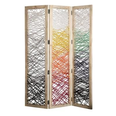 Screen Gems Crisscross 6 ft. Multi 3-Panel Room Divider Screen Gems Crisscross 6 ft. Multi 3-Panel Room Divider