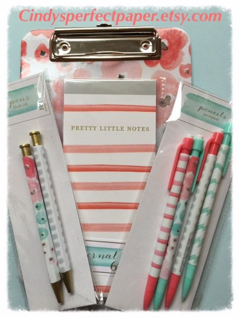 Watercolor Clip Board Note Pad Pens And Pencils Set From Target