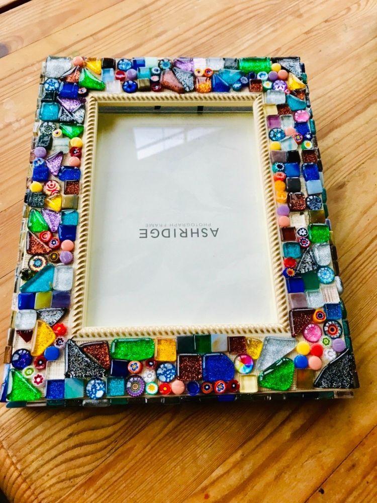 How To Make A Pretty Diy Mosaic Photo Frame Photo Frame Crafts