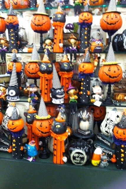 Halloween 2014 at Hobby Lobby (the Pumpkins on a stand with witch\u0027s - hobby lobby halloween decor