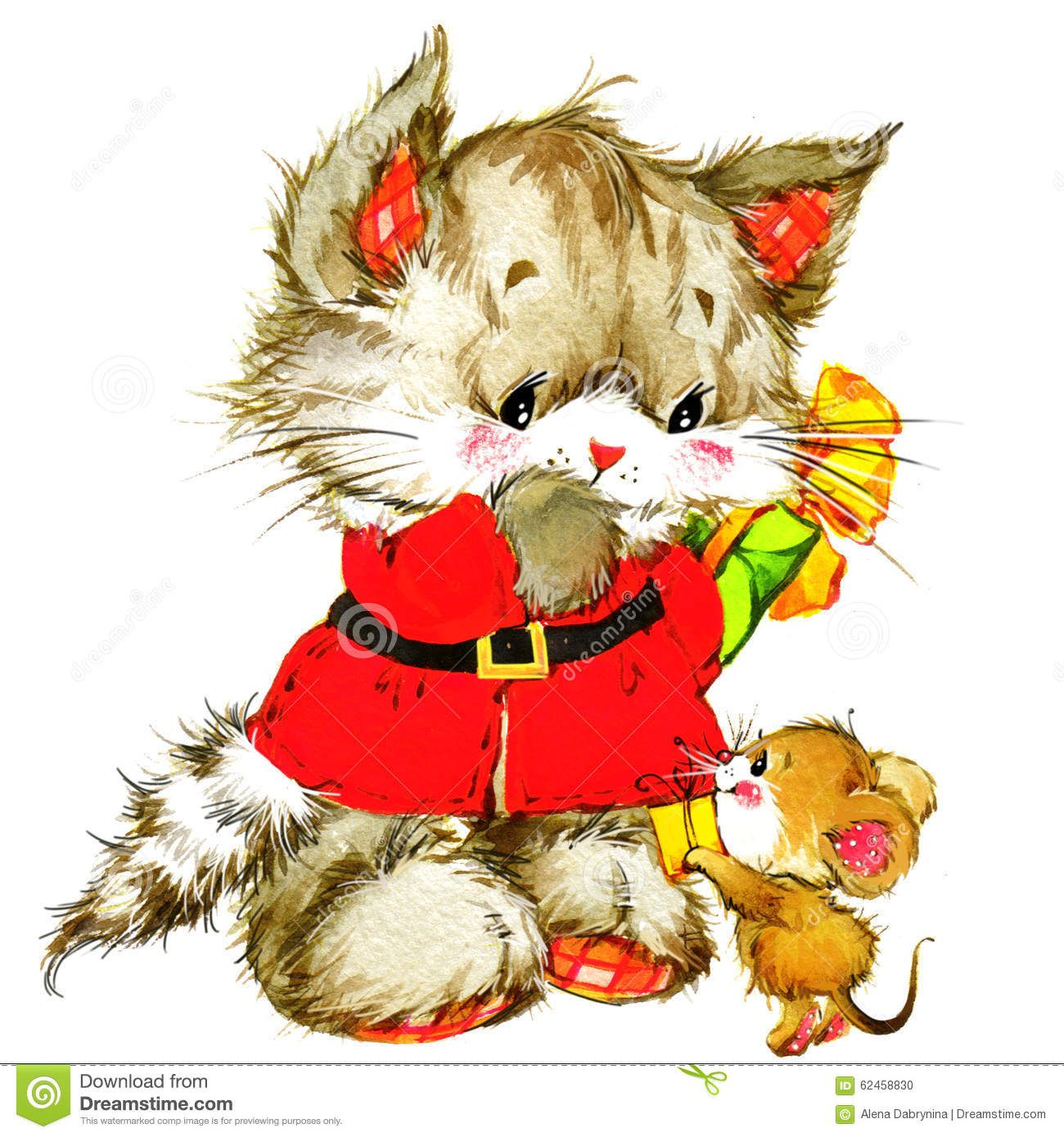 Images Of Cute Kitten Christmas Clipart