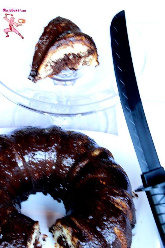 Ninja Notes on Chocolate Marble Cake Baking, #The Cake Slice Bakers from NinjaBaking.com #ninja #chocolate #cake