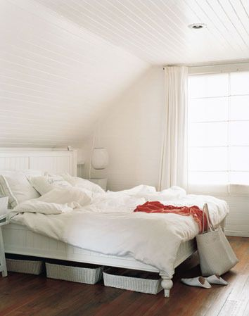 Attic Bedroom I Love The Beadboard Ceilings With Images Tranquil Bedroom Home Bedroom Bedroom Inspirations