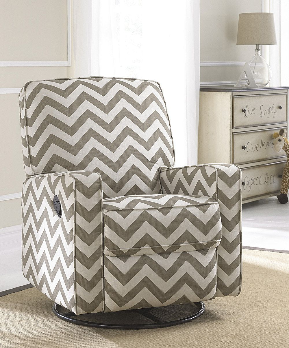 Pleasing Look At This Truffle Chevron Gliding Recliner On Zulily Andrewgaddart Wooden Chair Designs For Living Room Andrewgaddartcom