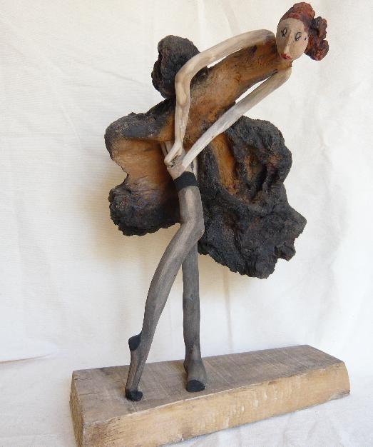 porte-jarretelles (Peinture) par nicole agoutin sculpture - Peindre Des Portes En Bois