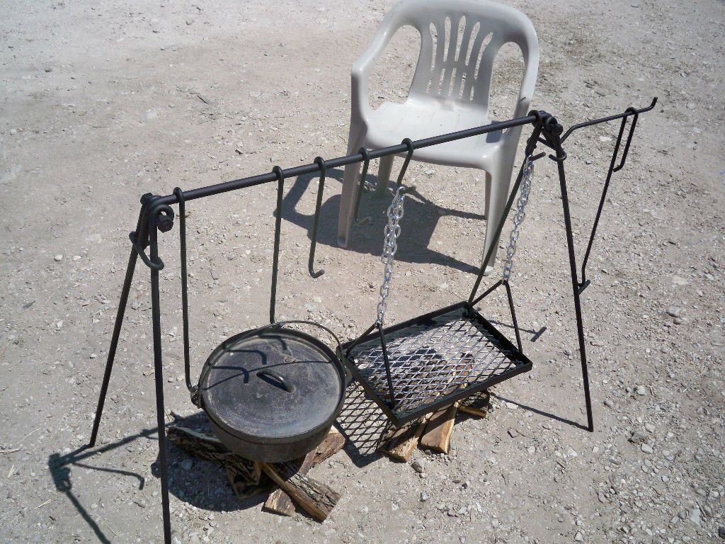 Oven Cook Set Campfire Grill Camp Cooking Hunting Fishing RV Out