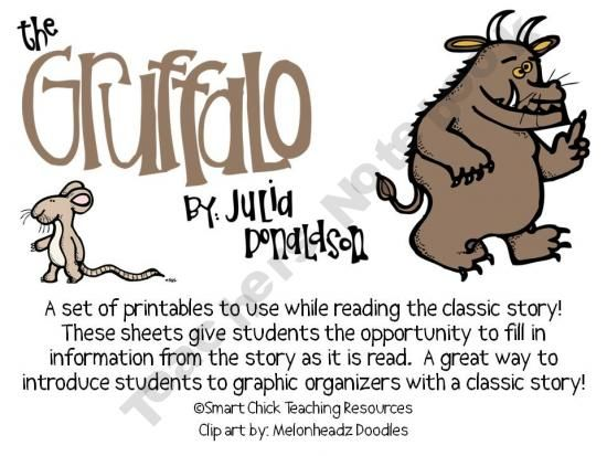 The Gruffalo By Julia Donaldson Printables To Go With The Book