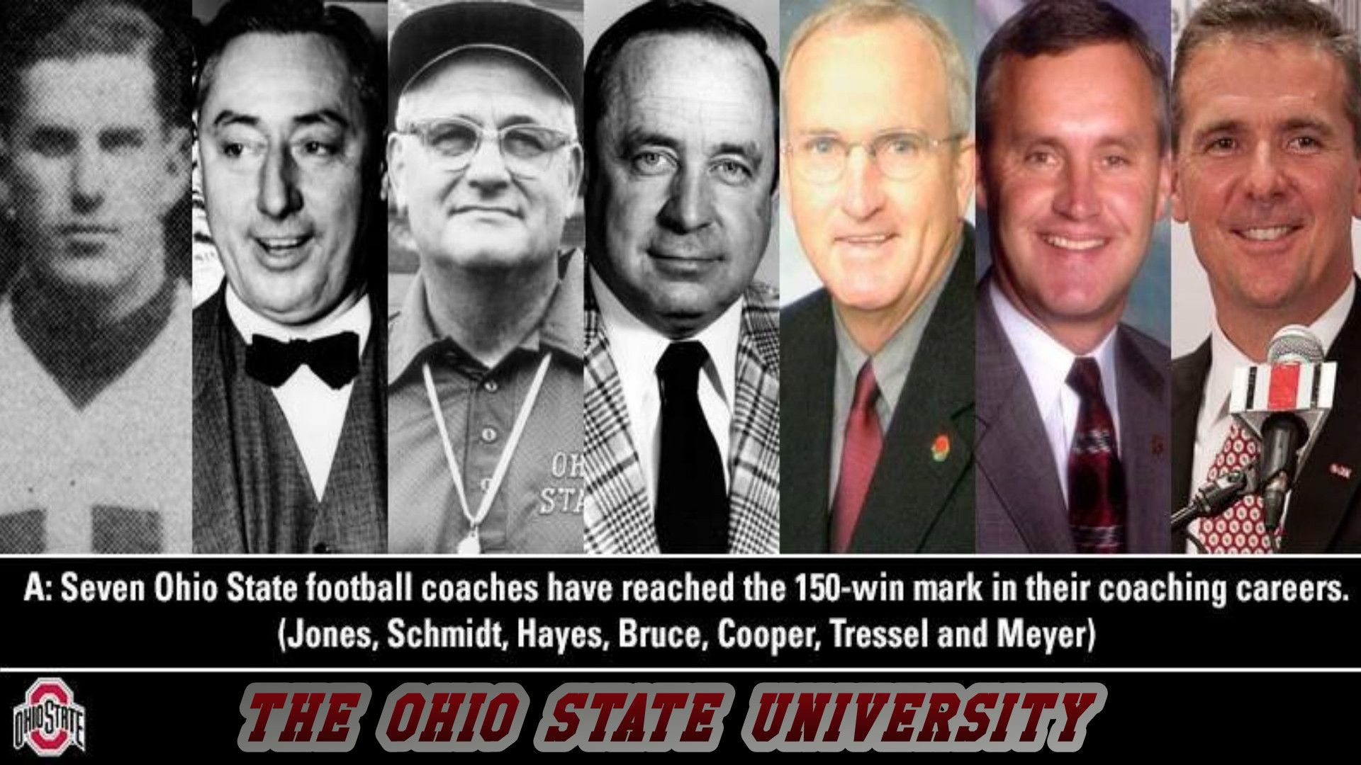 Coaches Of The Ohio State University That Have Reached 150 Career Wins Go Ohio State Football Ohio State Football Coaches Ohio State Buckeyes Football