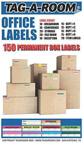 Tag-A-Room Color Coded Office Moving Box Labels Stickers, 1 | Moving ...