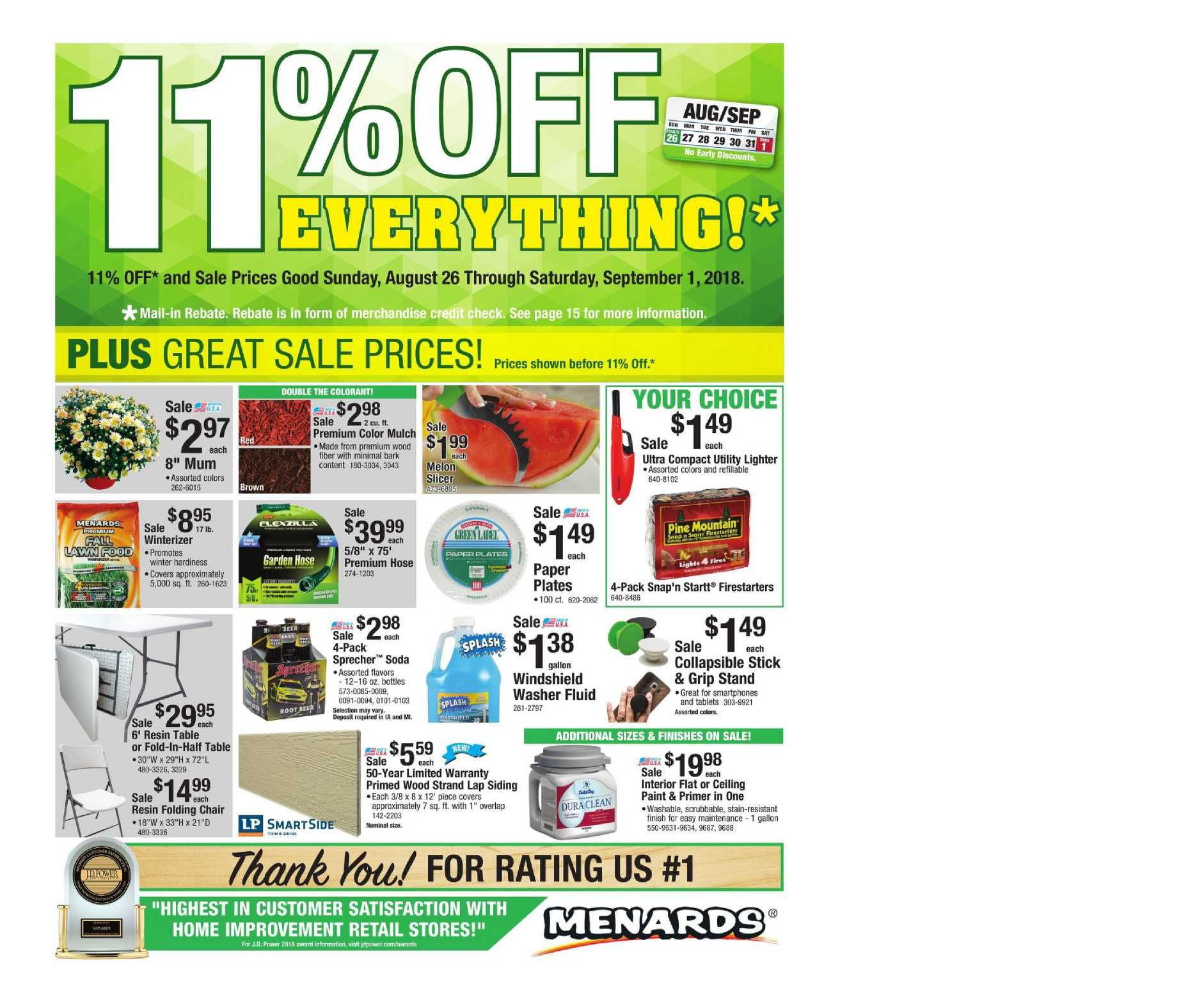 Treat yourself to huge savings with Menards Coupons: 15 deals for February 12222.