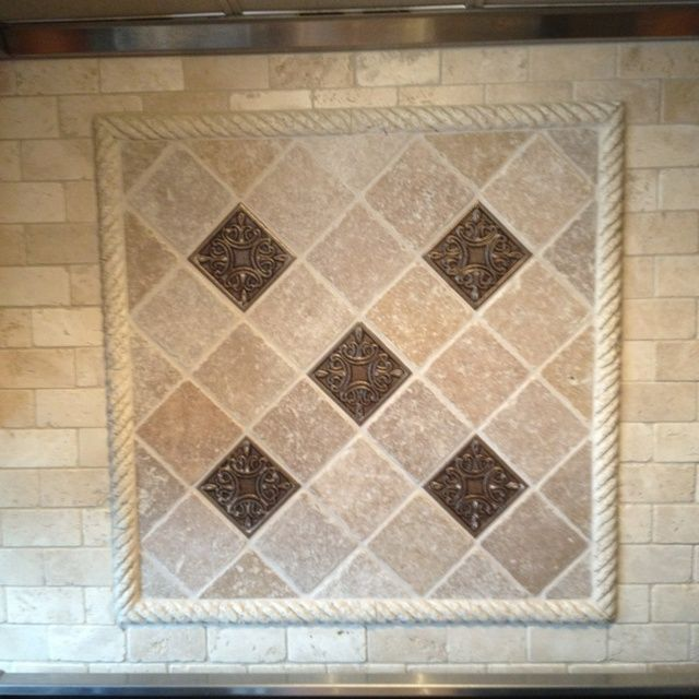 Decorative Travertine Tile Travertine Murals For Behind Stove  Tiles And Travertine Rope