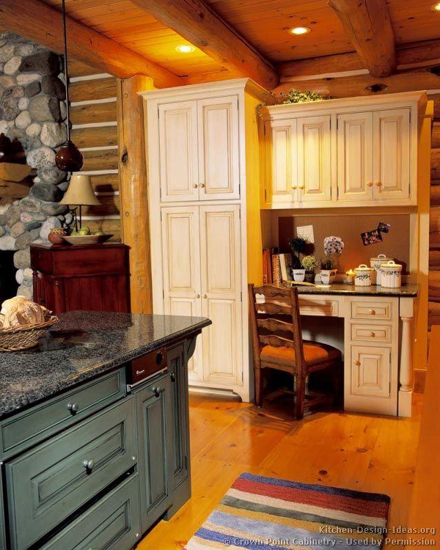 Log Home Kitchen #33 (Crown-Point.com, Kitchen-Design-Ideas.org ...