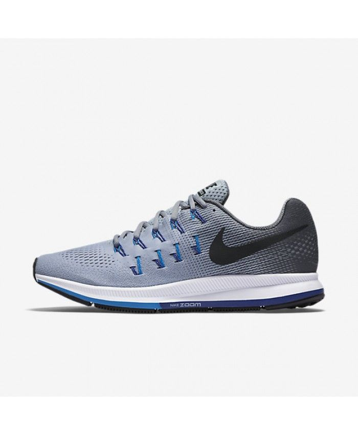 Nike Air Zoom Pegasus 33 Men Running Shoes Wolf Grey Blue Concord Black 831352-004