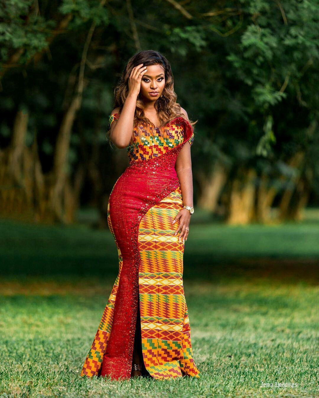 Gorgeous Kente Style For Engagement African Formal Dress Latest African Fashion Dresses African Fashion Modern