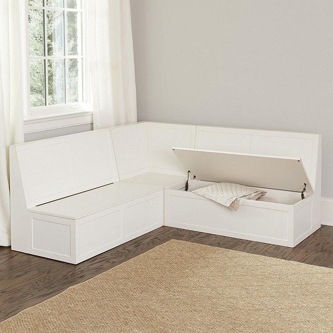 Banquette 3-Piece Seat Cushion Set - Two 48' & 19' Corner | Ballard Designs