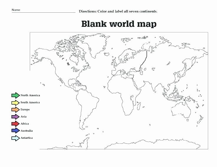 Oceans and Continents Worksheets Printable Continents
