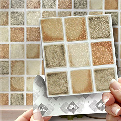 Farmhouse Effect Wall Tiles Box Of 18 Tiles Stick And Go Wall Tiles 4 X 4 10cm X 10cm Each Box Of Tiles Wi Wall Tiles Adhesive