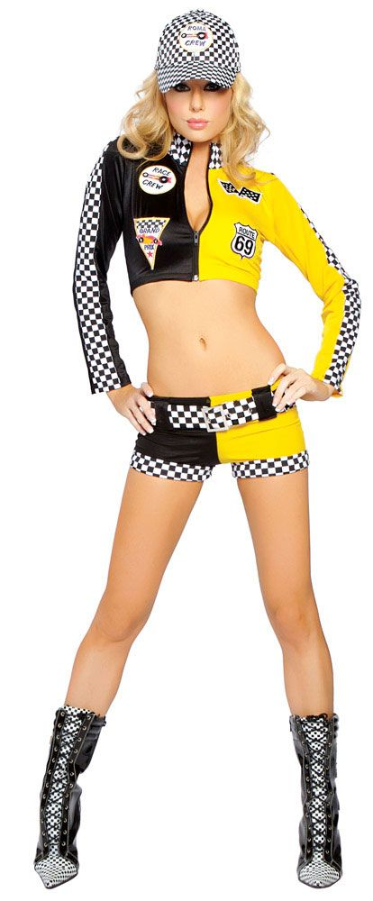 Race Car Driver Sexy Costume for Women Halloween Costume Ideas - female halloween costume ideas