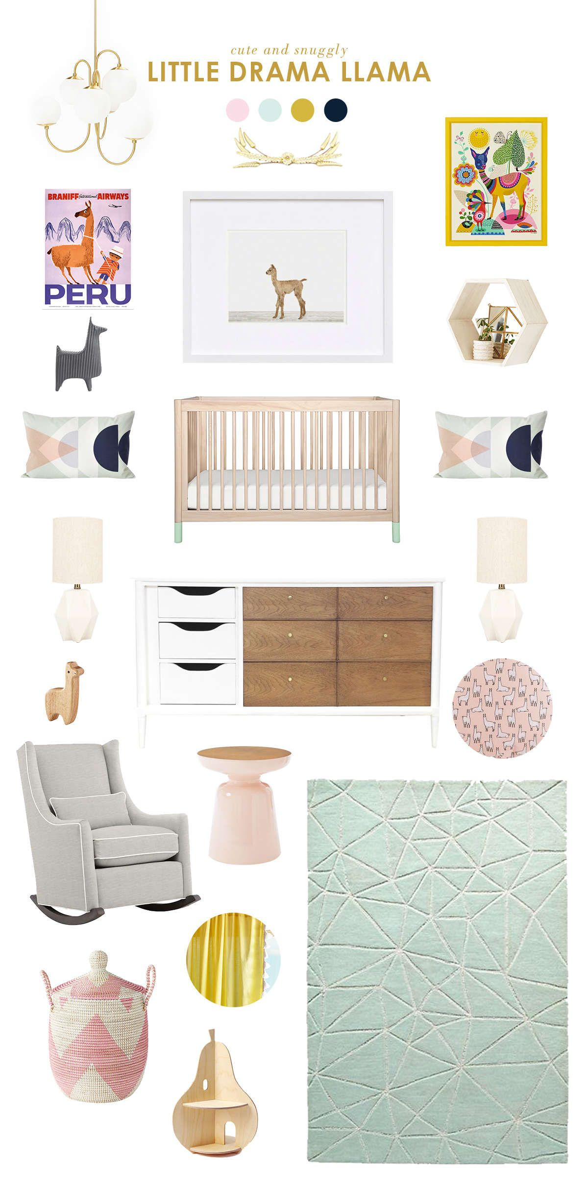 Awesome Llama Baby Nursery Ideas   Lay Baby Lay