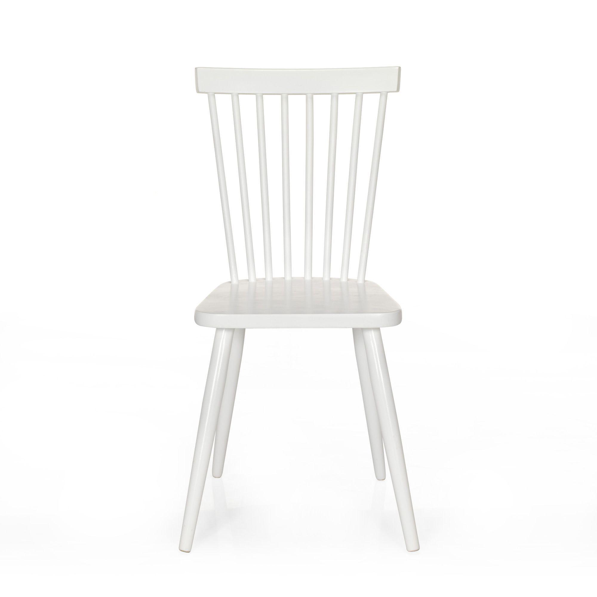 Chaise vintage blanche Blanc - Cleo - Chaises - Tables et chaises ...