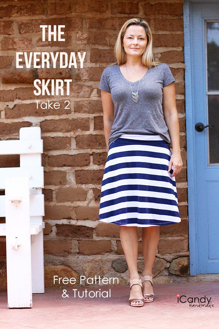 Patrón para faldas de punto | Costura | Pinterest | Falda de punto ...