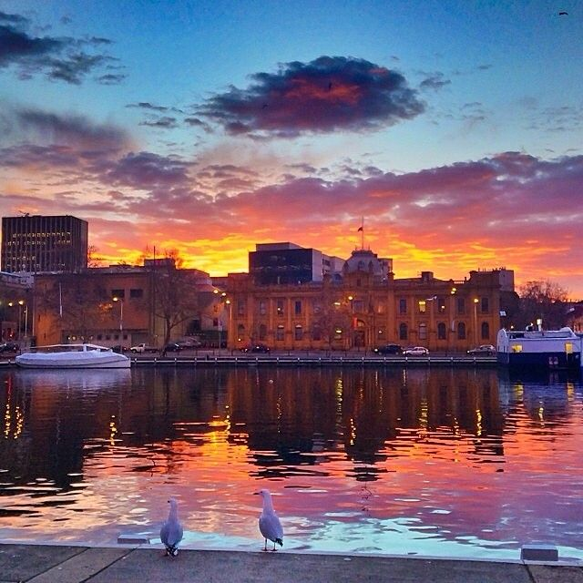 Hobart, Tasmania. Winter is certainly turning out some ...