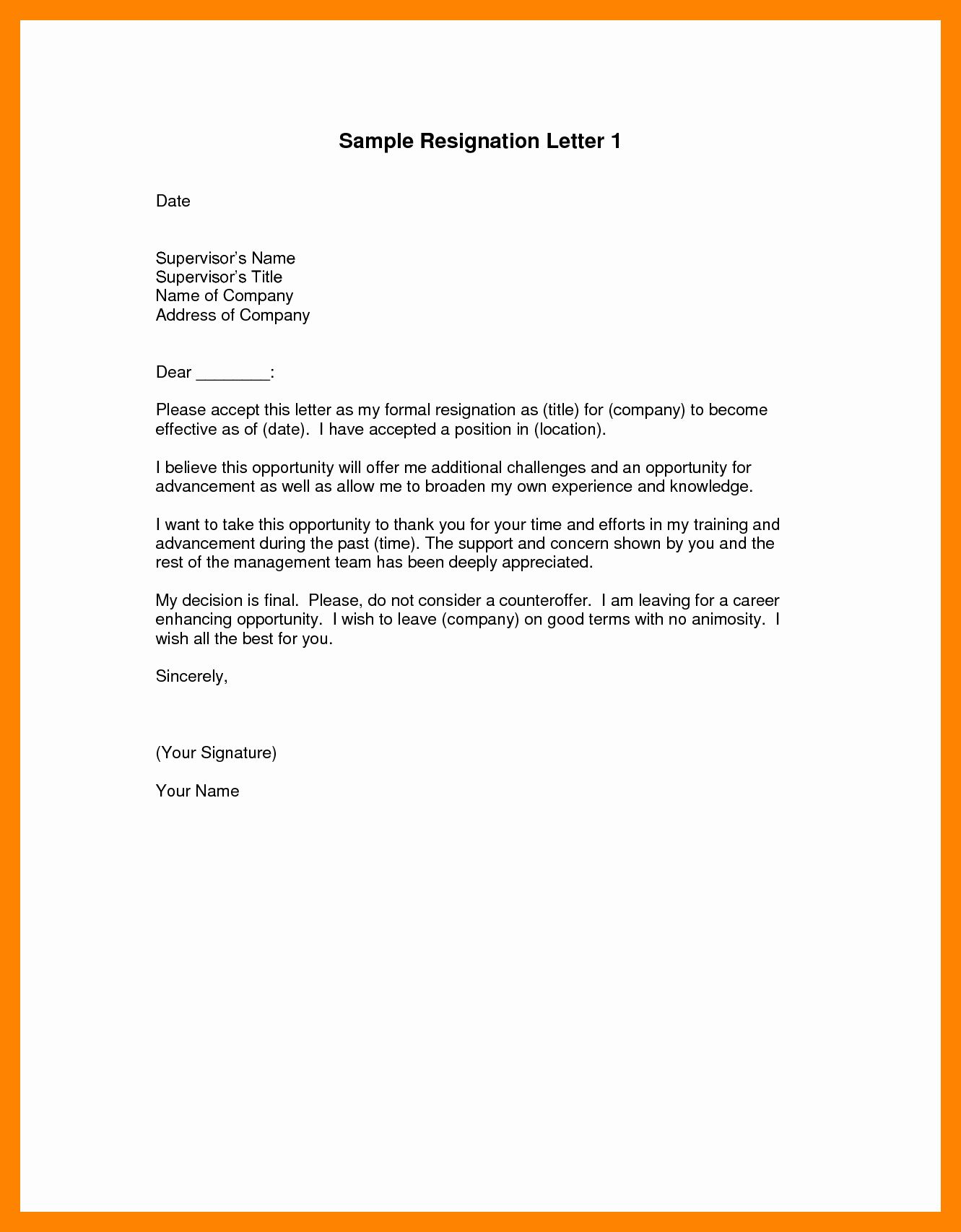 resignation letter effective immediately fresh 7 official career objective example in resume sample cover for applying a job admin executive