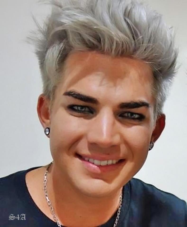 Adam Lambert 3 Blonde Men Hair Color