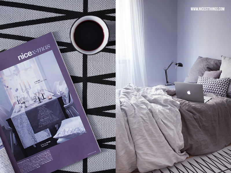Schlafzimmer Deko Ideen in Grautönen, skandinavisch