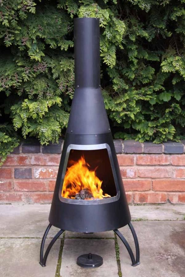 Lovely A Modern, Contemporary Looking Large Steel Chimenea With A Steel Colour  Mouth Rim. The