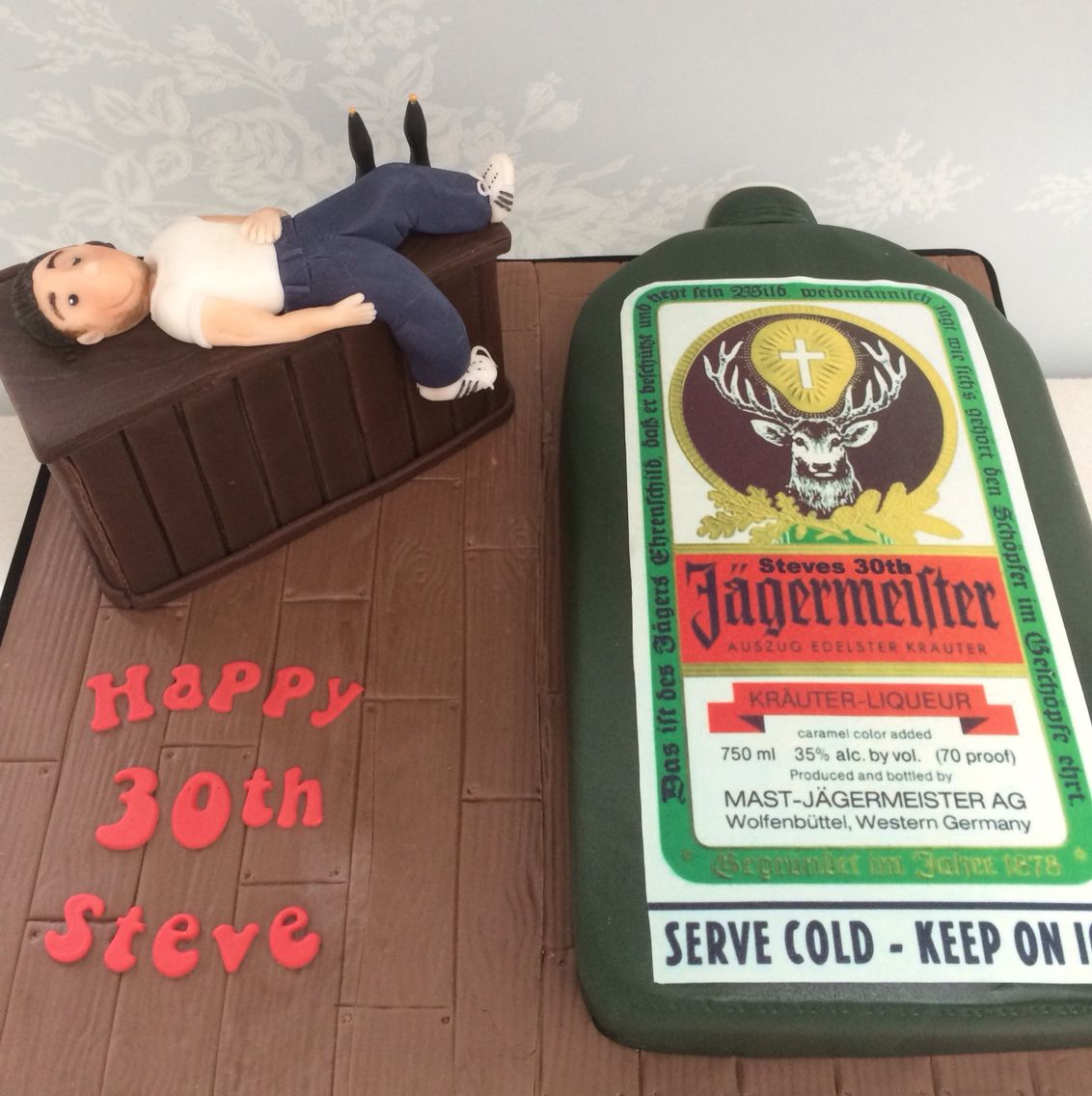 50th Birthday Liquor: Jagermeister Cake Complete With Drunk Birthday Boy!
